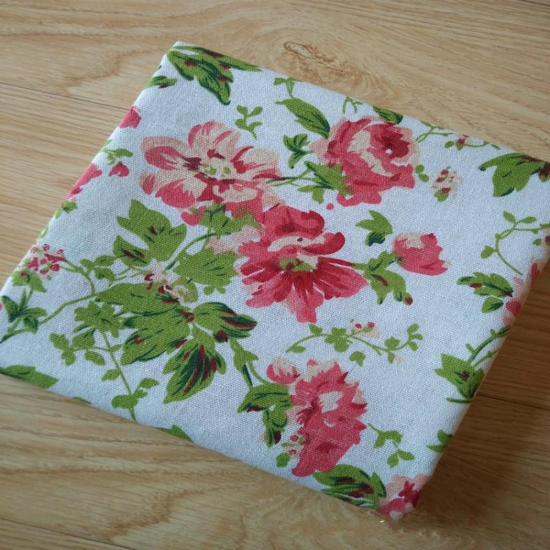 50x150cm coton tissu de lin de bricolage matériel imprimé à fleurs CACTUS Cactus 8 S