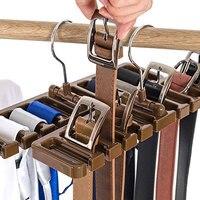1 stks/set Plastic Tie Riem Sjaal Rack Organizer Closet Garderobe Ruimte Saver Riem Hanger met Metalen Haak DA