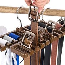 1PCS/SET Plastic Tie Belt Scarf Rack Organizer Closet Wardrobe Space Saver Hanger with Metal Hook DA