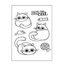 Cool Cat DIY Silicone Clear Stamp Cling Seal Scrapbook Embossing Album Decor Craft For Scrapbooking New Stamps 2019