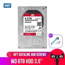 """WD אדום פרו 6TB דיסק רשת אחסון 3.5 NAS הקשיח דיסק אדום דיסק 6TB 7200 סל""""ד 256M מטמון SATA3 HDD 6 Gb/s WD6003FFBX"""