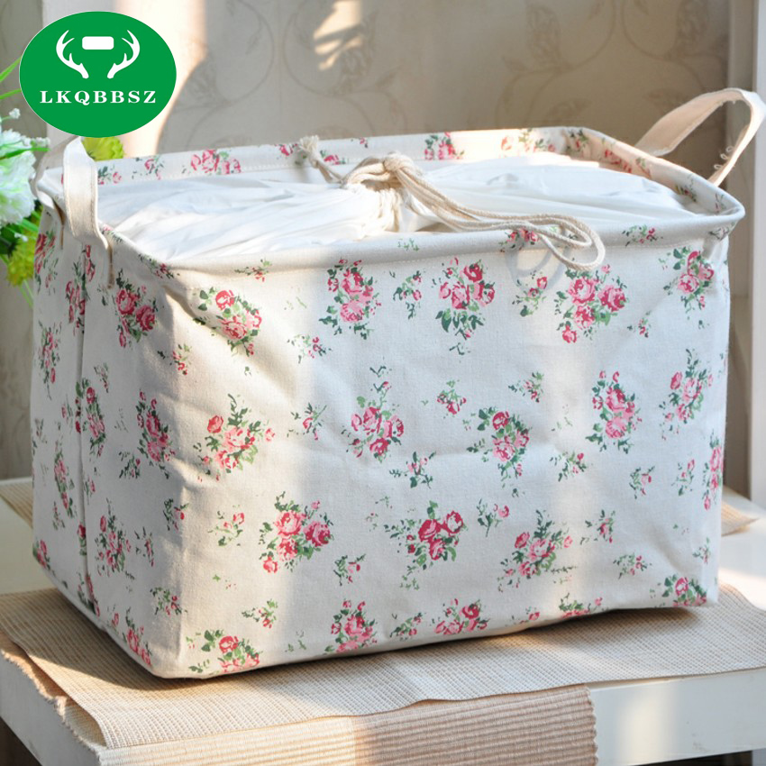 Cute Cotton Home Storage Box Desk Organizer Office Folding Clothes Storage Box Jewelry Cosmetic Makeup Snacks Toys Container