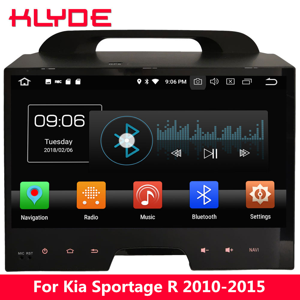 KLYDE 10.1 IPS 4G Android 8.0 Octa Core 4GB RAM 32GB ROM BT Car DVD Multimedia Player Stereo Radio For Kia Sportage R 2010 2015