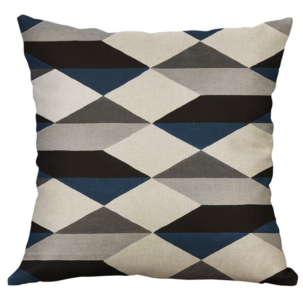 Image 3 - Irregular Geometric Pattern Pillowcase Cushion Cover 60x60cm Sofa Waist Throw Cushion Cover Home Decor Cushion Covers Gift-in Cushion Cover from Home & Garden
