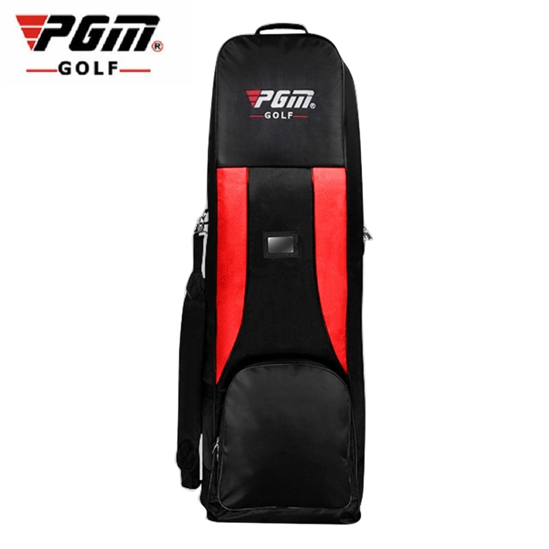 Pgm Golf Aviation Pulley Bag Package Big Capacity Folding Aircraft Storage Golf Bag Double Layers Traveling Nylon Golf Bag D0061