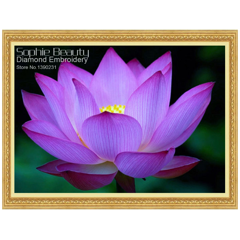 5d full square diamond embroidery purple lotus flower needlework 5d full square diamond embroidery purple lotus flower needlework diamond painting cross stitch full drill rhinestone paintings in diamond painting cross izmirmasajfo