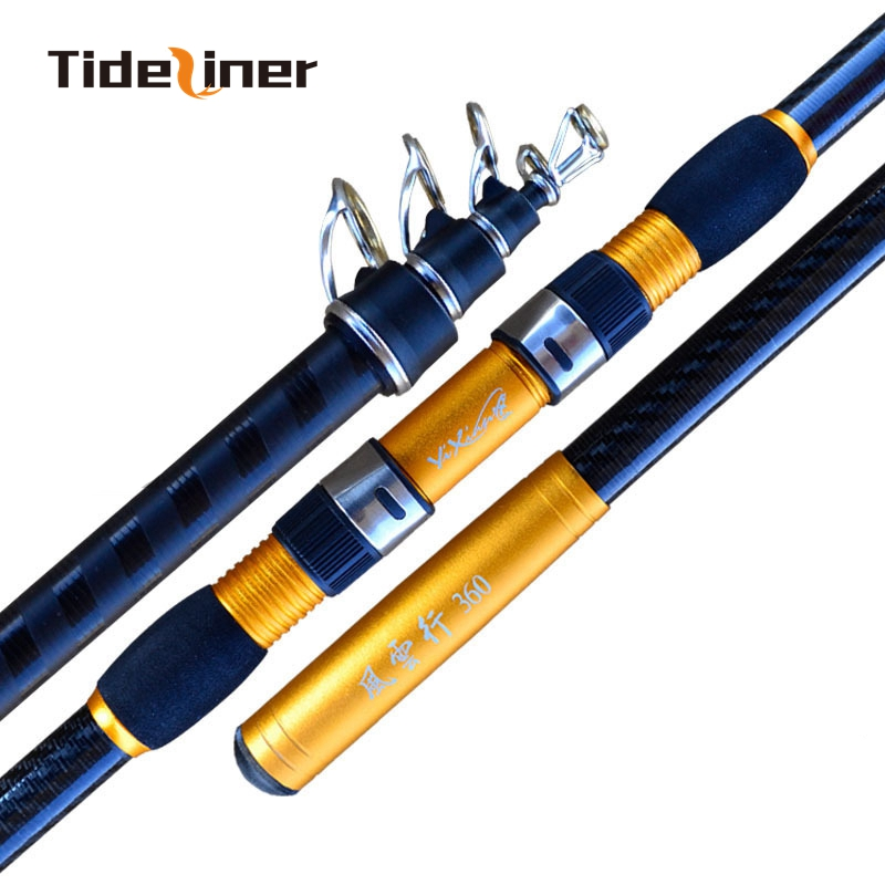 Tideliner 2 4m 4 5m surf fishing rod high carbon fiber spinning fishing pole distance throwing