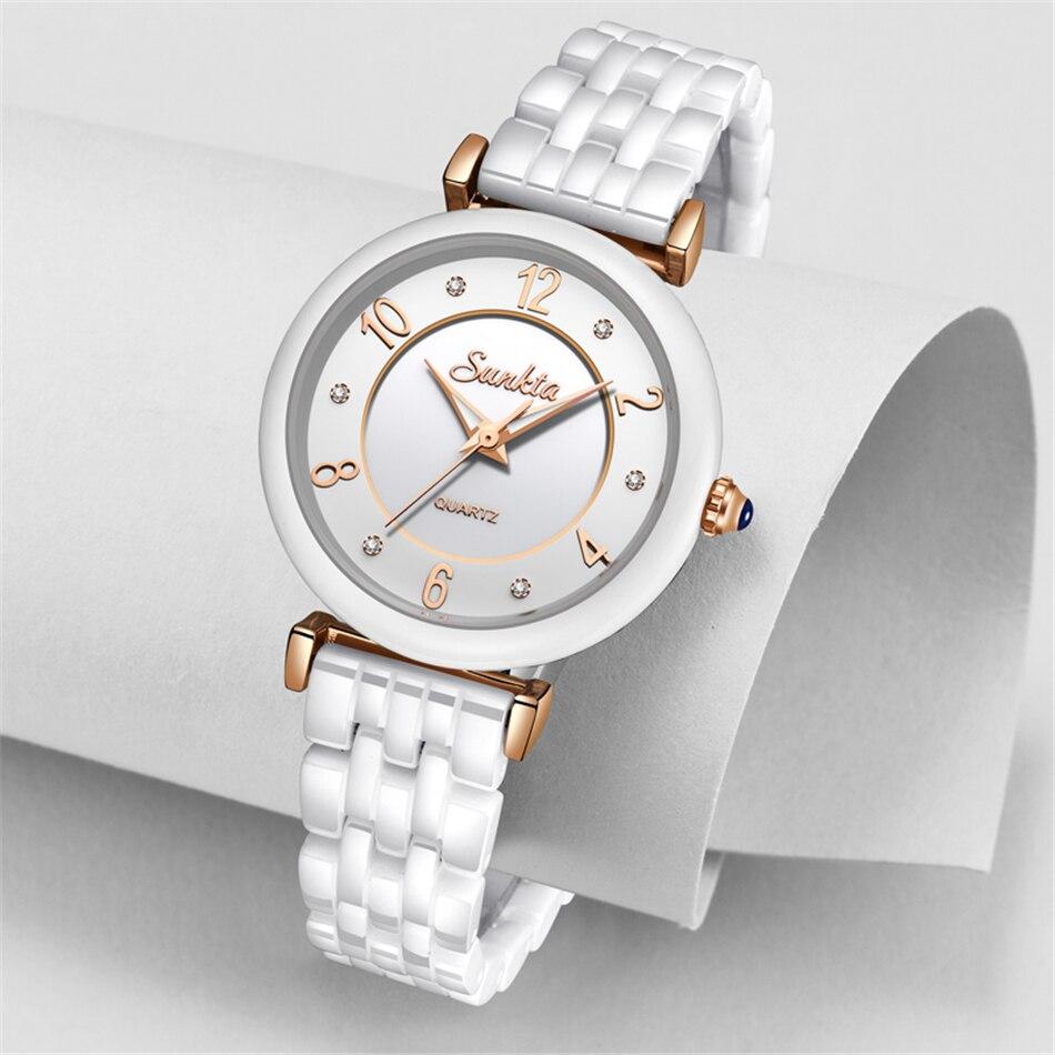 SUNKTA 2019 Hot Women Watches Luxury Brand Gift Black Ladies Watch Fashion/Dress Wristwatch Waterproof Simple Style Reloj Mujer