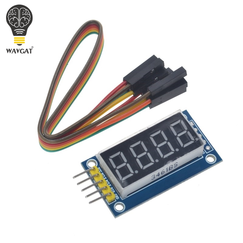 Free Shipping <font><b>4</b></font> Bits Digital <font><b>Tube</b></font> LED Display Module Four Serial for Arduino 595 Driver image