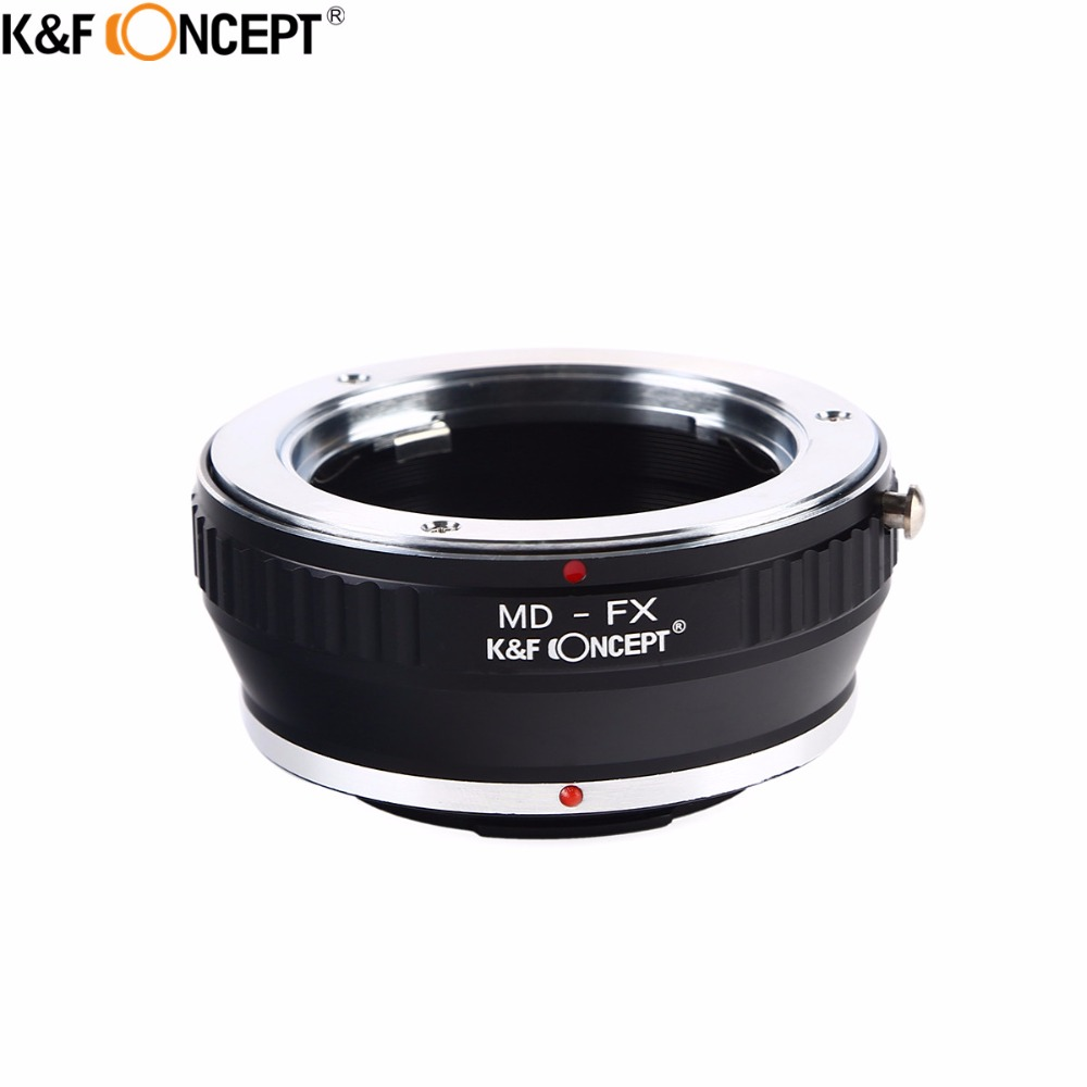 K&F CONCEPT MD-FX Camera Lens Adapter Ring For Minolta MD MC Mount Lens to for Fujifilm X Mount X-Pro1 Camera Body