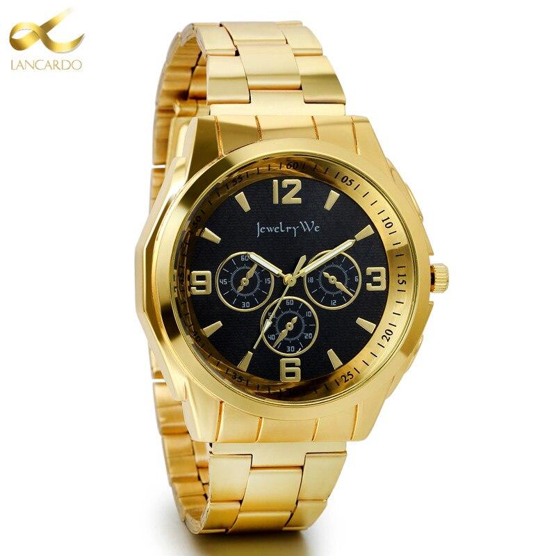 Lancardo Quartz Watch Business Personality Men Watches Fashion Trend Military Sports Students Men s Large Dial
