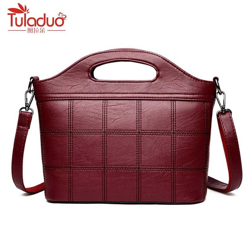 Brand Fashion Plaid Women Bag Handbags Women Famous Designer Women Leather Handbags Luxury Ladies Hand Bags Shoulder Sac 2018