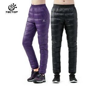 Image 1 - Winter Ultralight Duck Down Outwear Pants Unisex Super light Windproof Plus Size warm trousers Loose ski Hiking down pants