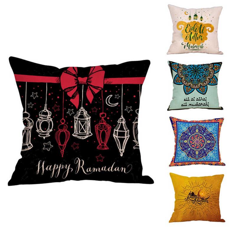 Eid Al Fitr линия, наволочки с узорами, супер мягкая ткань, домашняя Подушка, Наволочка на подушку, наволочки-in Наволочка from Дом и животные