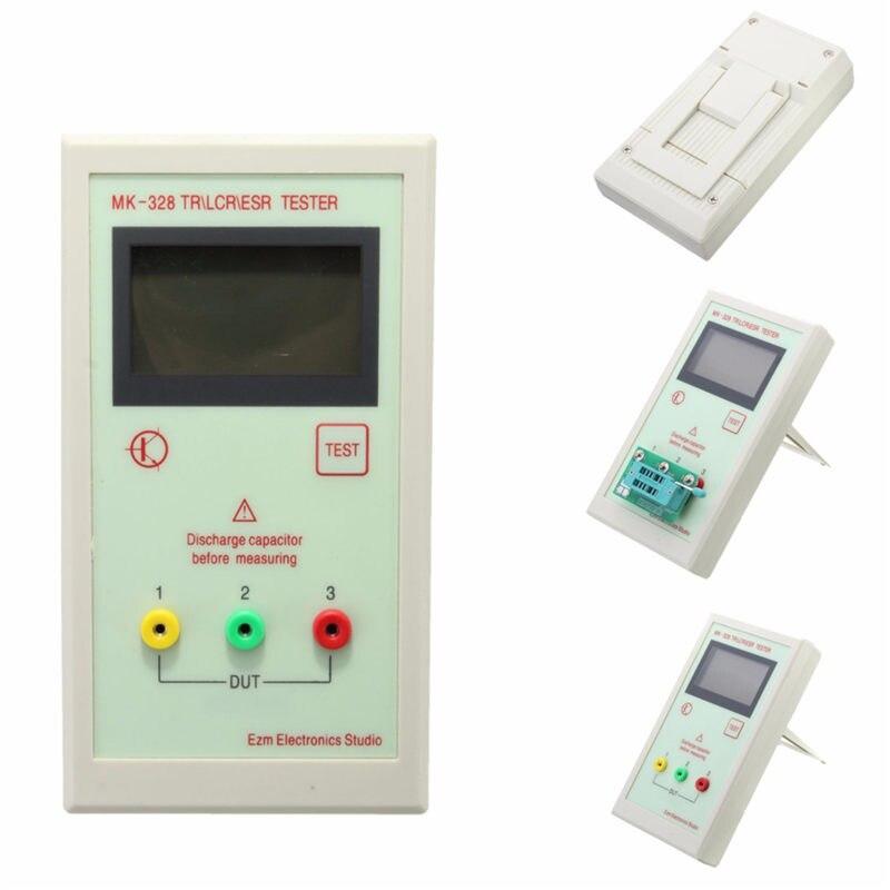 MK-328 TR Tester Transistor Inductance Capacitance Resistance ESR Meter Tester Measuring Tools For LCR ESR NPN PNP MOS esr meter mk 328 tr for lcr esr digital transistor tester inductance capacitance resistance 12864 lcd screen