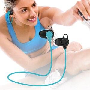 Image 3 - QAIXAG senza fili di Bluetooth di sport auricolare CSR programma in ear Bluetooth auricolare per telefoni cellulari accessori del telefono nero