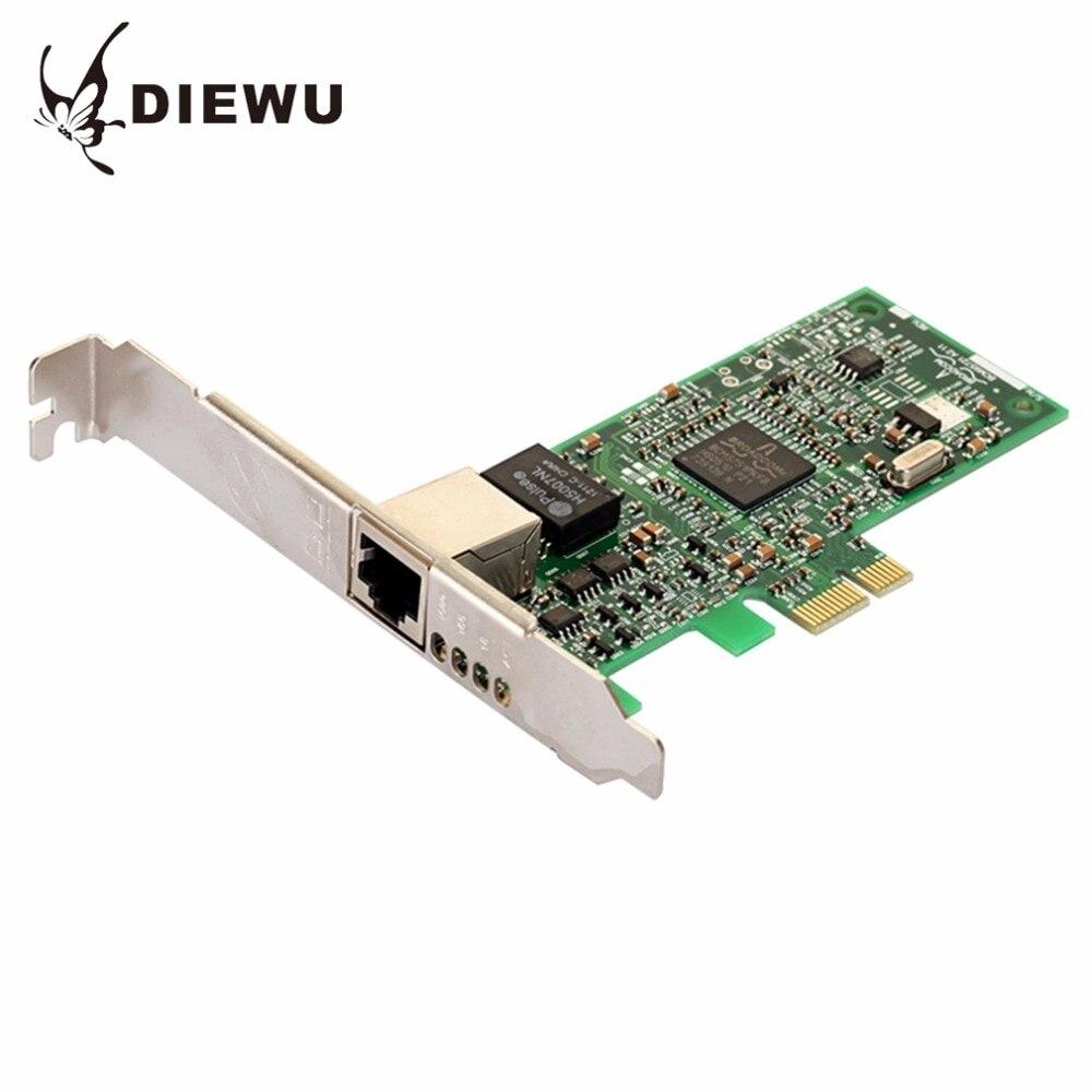 DIEWU BCM5751 PCI-E Diskless Boot Desktop Gigabit Ethernet Network Card Adapters Slot RJ45 LAN Adapter Support ESXi5.5