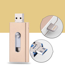 Richwell USB Flash Drive For iPhone X/8/7/7 Plus/6/6s/5/SE ipad Metal Pendrive HD Memory Stick 8G 16G 32G 64G