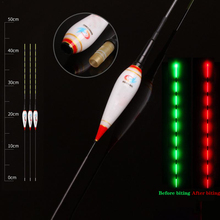 Gravity sensor Fishing Float Light  Night Luminous Floats Automatically Remind With Button Battery CR425