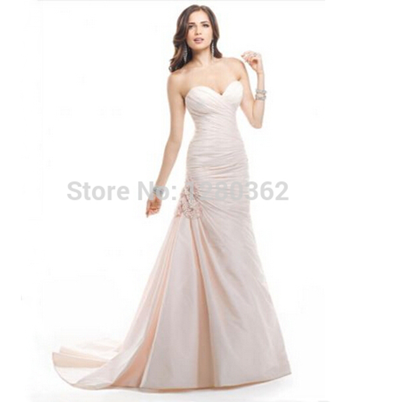 hot sale sexy 2017 whiteivory pink mermaid wedding dresses bridal gowns with buttons custom