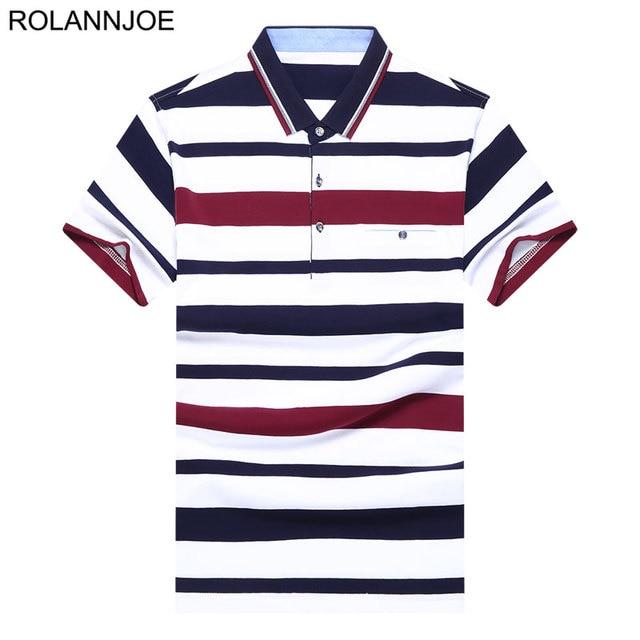 91414812a Chest pocket Tricolor Striped Polo Shirts Men Clothes 2018 Short Sleeve Polo  Men's Casual Regular fit Cotton Polos Para Hombre