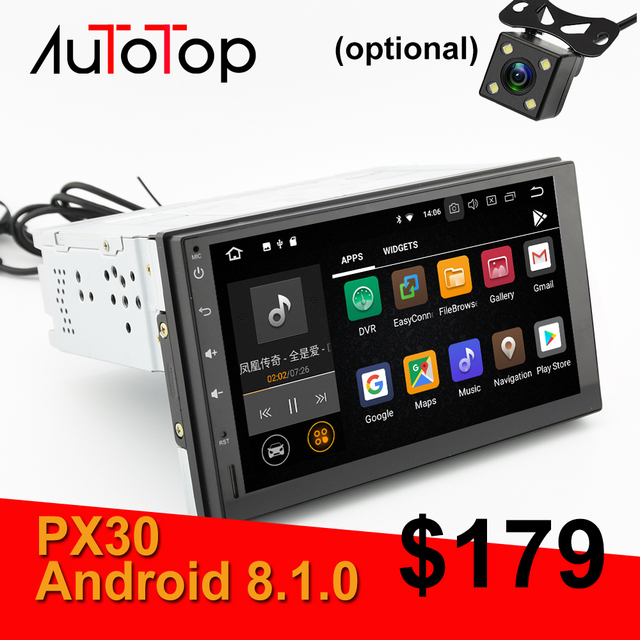 AUTOTOP PX30 Android 81 Car Multimedia Player 7 DVD GPS For Nissan Toyota Volkswagen Mazda BYD Kia VW Peugeot Lada Stereo