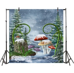Image 3 - Laeacco Wonderland Fairy Taleเห็ดป่าการถ่ายภาพพื้นหลังเด็กวันเกิดฉากหลังPhotophone Photocall Photo Studio