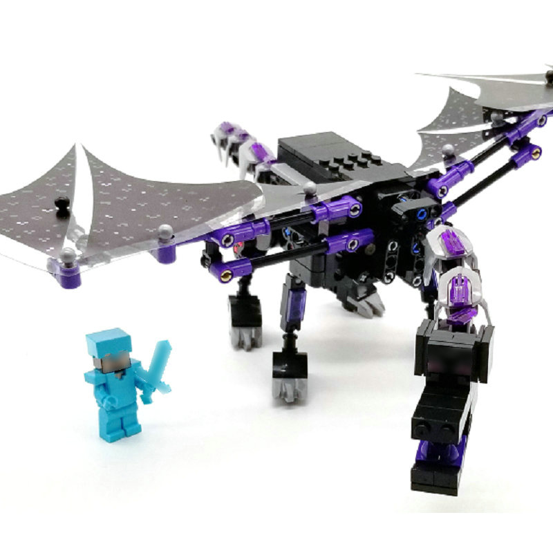 Minecrafted Blocks The Mega Ender Dragon With Armor Steve Compatible LegoINGly Buildings Bricks Mini Action Figures Toys NewestMinecrafted Blocks The Mega Ender Dragon With Armor Steve Compatible LegoINGly Buildings Bricks Mini Action Figures Toys Newest