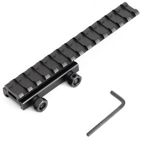 Image 3 - Weaver Picatinny soporte sobre riel para Mira extensor, accesorios de caza, conversor adaptador Base plana para Airsoft, 20mm
