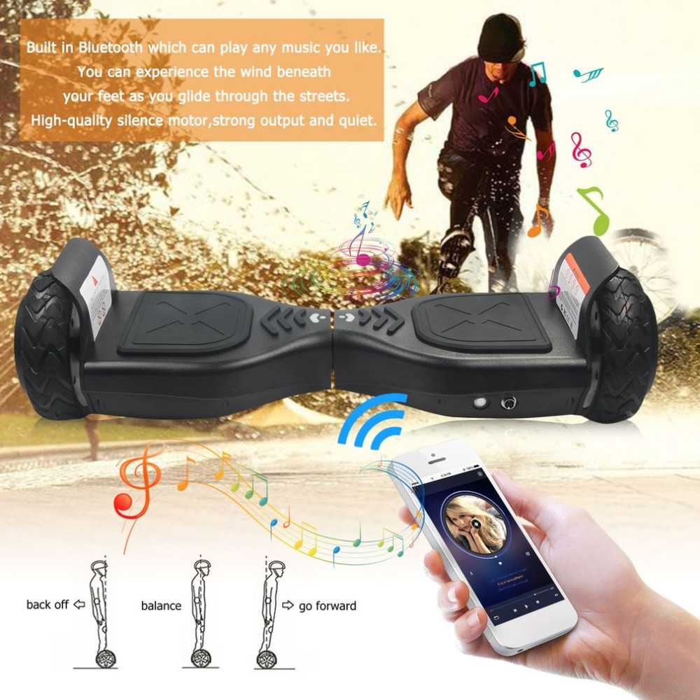 6.5 Inch Tyre Hoverboards Two Wheels Smart Bluetooth Self Balance Scooters Silence Motor Strong Power Perfect Gift NEW