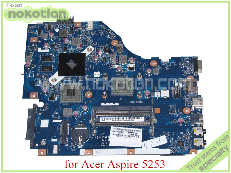 MB NCY02 001 P5WE6 LA 7092P Rev 1 0 MBNCY02001 For acer aspire 5250 5253 font
