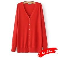 Plus Size Long Knitting Cardigan Women 2015 Autumn Fashion Knited Sweater Casual Blouses Tricotado XL XXL