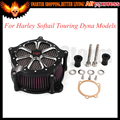 2016 Hot Sale Aluminum Black Motorcycle For Harley Air Cleaner Intake Filter System For Harley Softail Touring Dyna Models