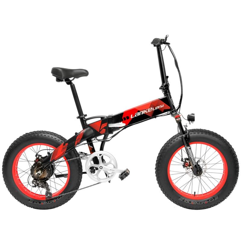 20 Inch Folding Mountain Bike 500W 48V 14 5Ah Lithium Battery Fat Bike Electric Bike 5 Innrech Market.com