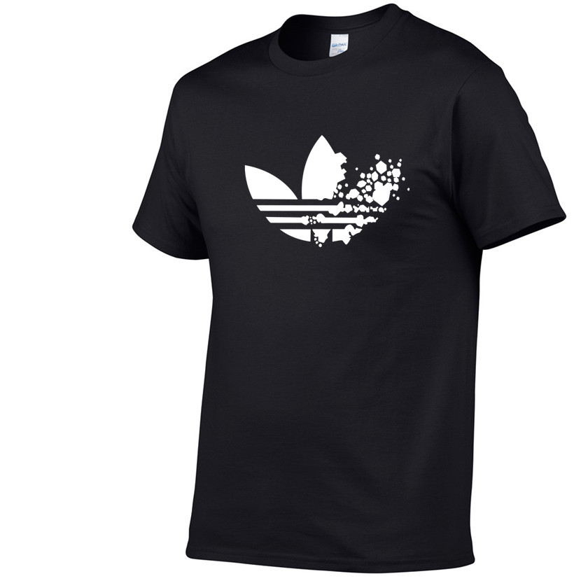 Cotton casual LOGO printing men's   T  -  shirt   top fashion short-sleeved men's   T  -  shirt   men's Tshirt   shirt   men's   T     shirt   2019