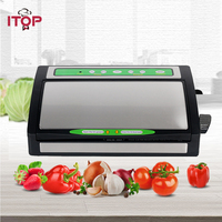 ITOP Electric Vacuum Food Sealer Automatic Vacuum Packing Plastic Sealing Machine Household Kitchen Appliances with Bags
