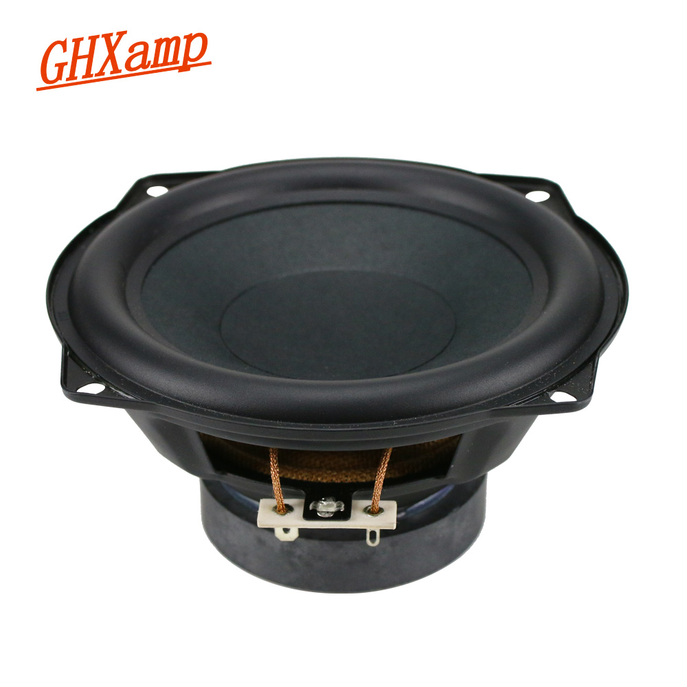GHXAMP 5.25 inch Mid-Bass Speaker Unit Subwoofer 8ohm 30W Deep Bass Mediant Woofer Loudspeaker Rubber Edge 1pc ghxamp 120mm 5 inch bass speaker unit 4ohm 30w 2 way diy woofer speaker subwoofer car home made loudspeaker 1pc