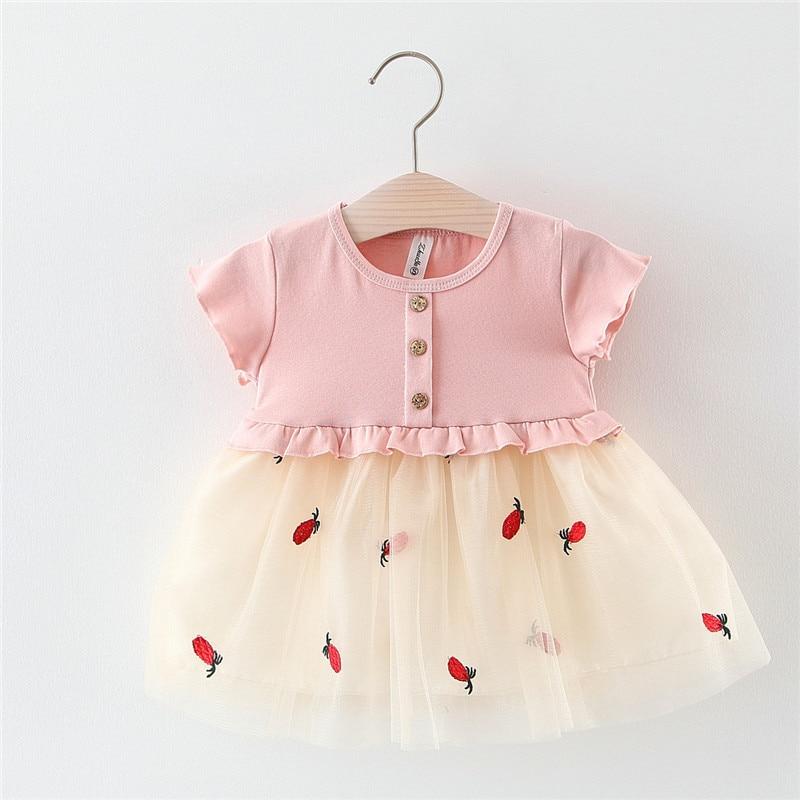 Oklady 2019 New Girls Short-sleeved Embroidered Mesh DressOklady 2019 New Girls Short-sleeved Embroidered Mesh Dress