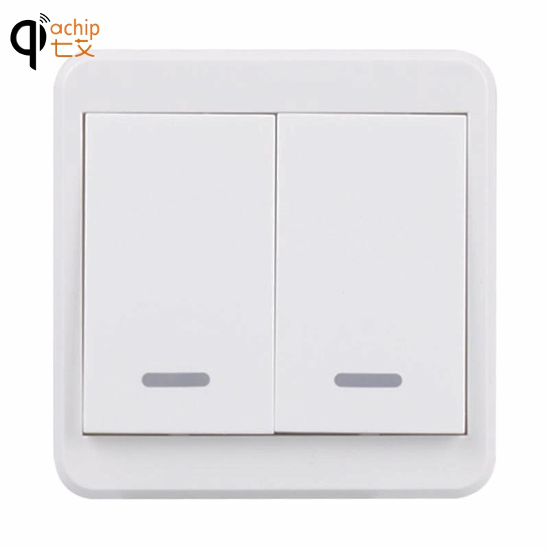 UK Plug WiFi Smart Switch 2 Gang Light Wall Press Switch APP Control Panel Work With Amazon Alexa Google Home Timing S2 lemaic wifi smart switch 2 gang light wall switch app remote control work with amazon google alexa timing function touch screen