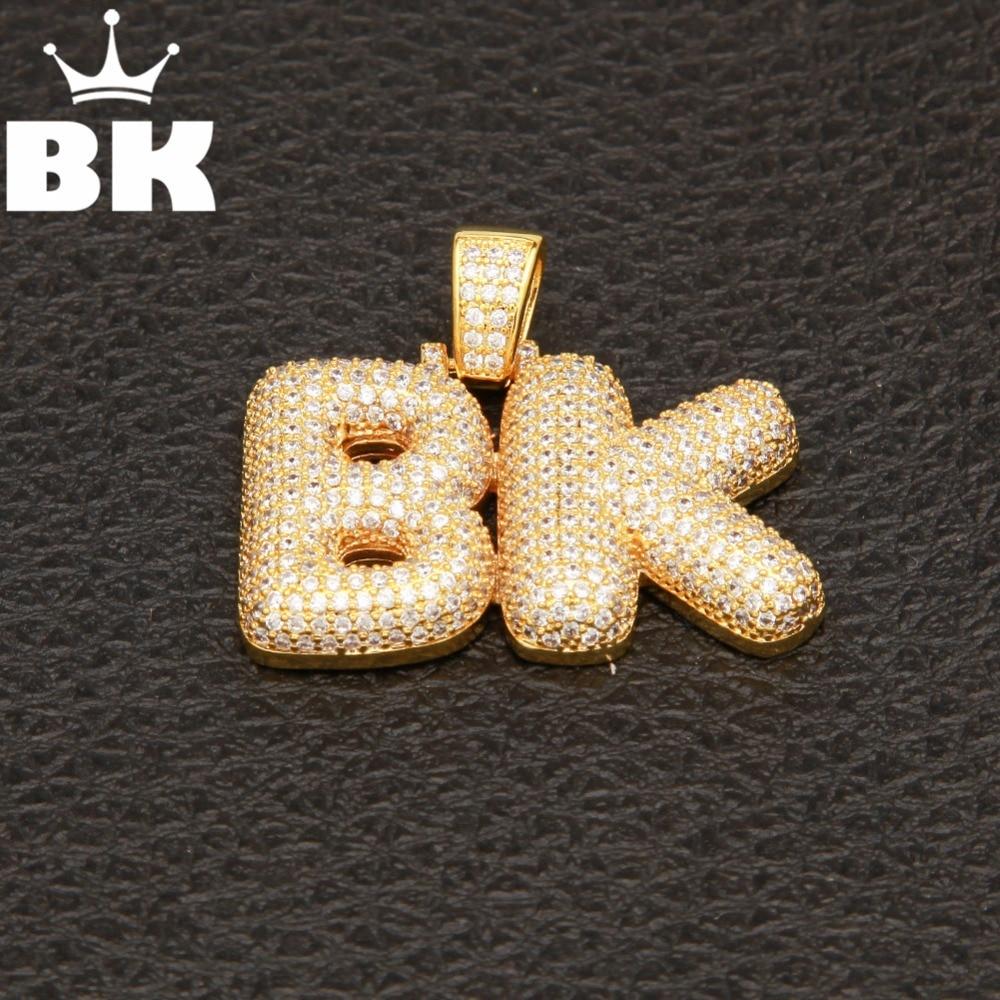 OEM LINK Custom Name Bubble Capital Letter Pendant Necklace 2pcs 7pcs letter