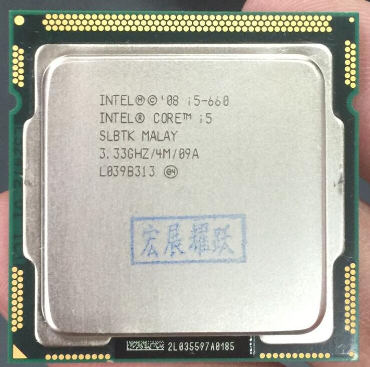 Intel Core I5-660 I5 660  Processor (4M Cache, 3.33 GHz) LGA1156 Desktop CPU