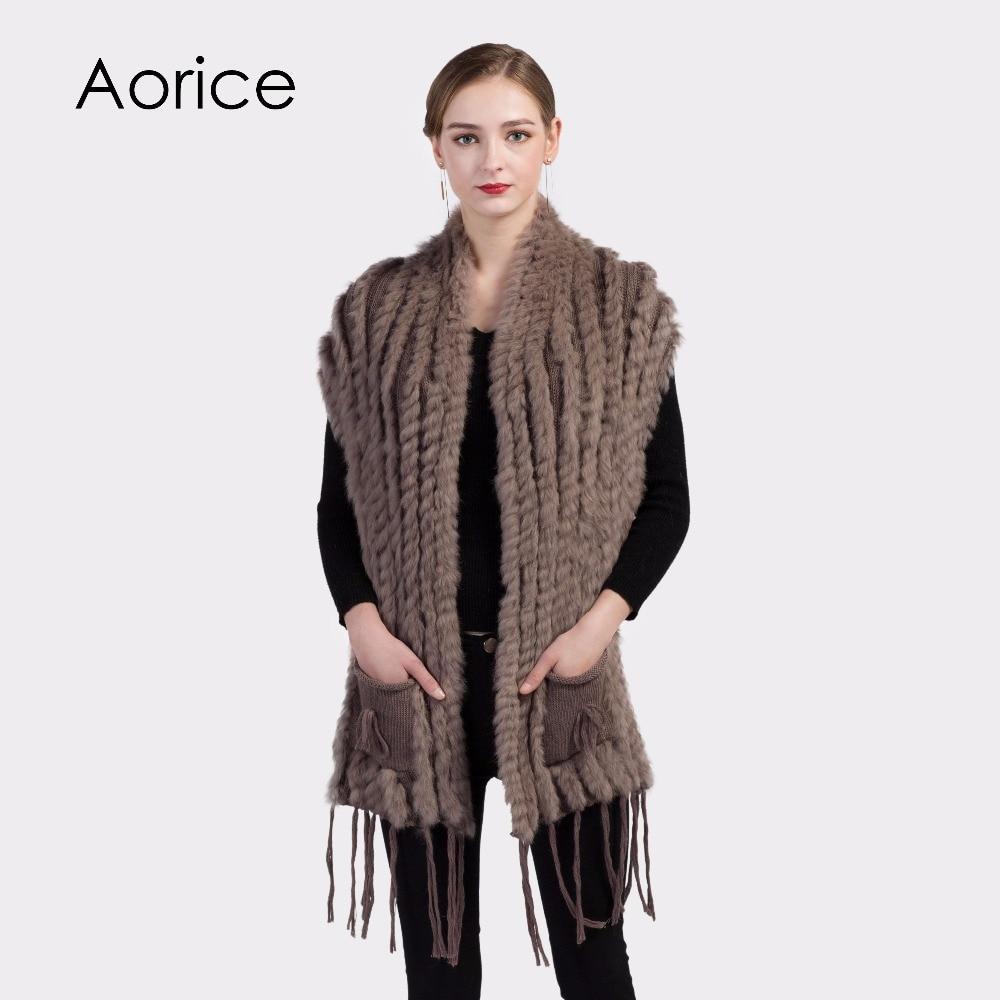 buy popular 0dcf8 49139 VKR004 Donne real Rex Rabbit Fur Scialle Capo Della Stola ...