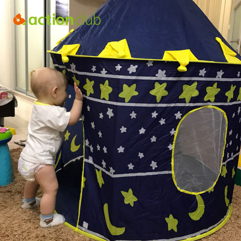 Actionclub 105X135cm Ultralarge Children Beach Tent <font><b>Baby</b></font> Toy Play Game House Kids Prince Castle Indoor Outdoor Toys Tents HT2426