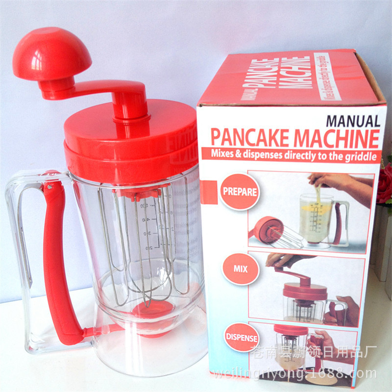 New creative batter mixing cup hand batter leak machine cake batter separator mixer eggbeater household baking tools