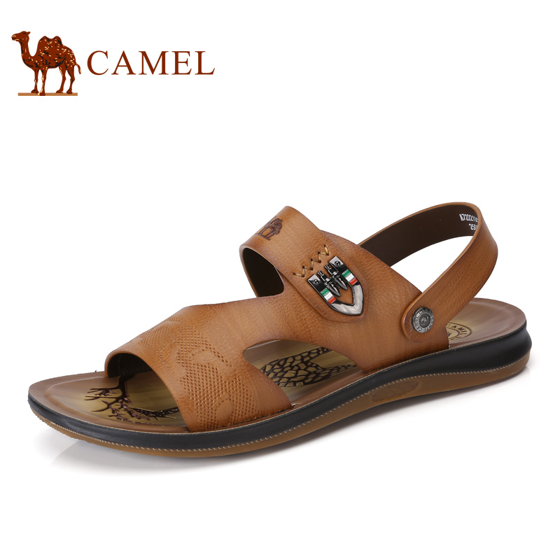 Camel 2017 Summer New Men's Sandals Shoes Casual Daily Refreshing Breathable Exposed Toe Beach Male Sandals A722211422 camel men s outdoor anti collision toe cap cowhide casual beach sandals summer breathable river sandal male a622309222