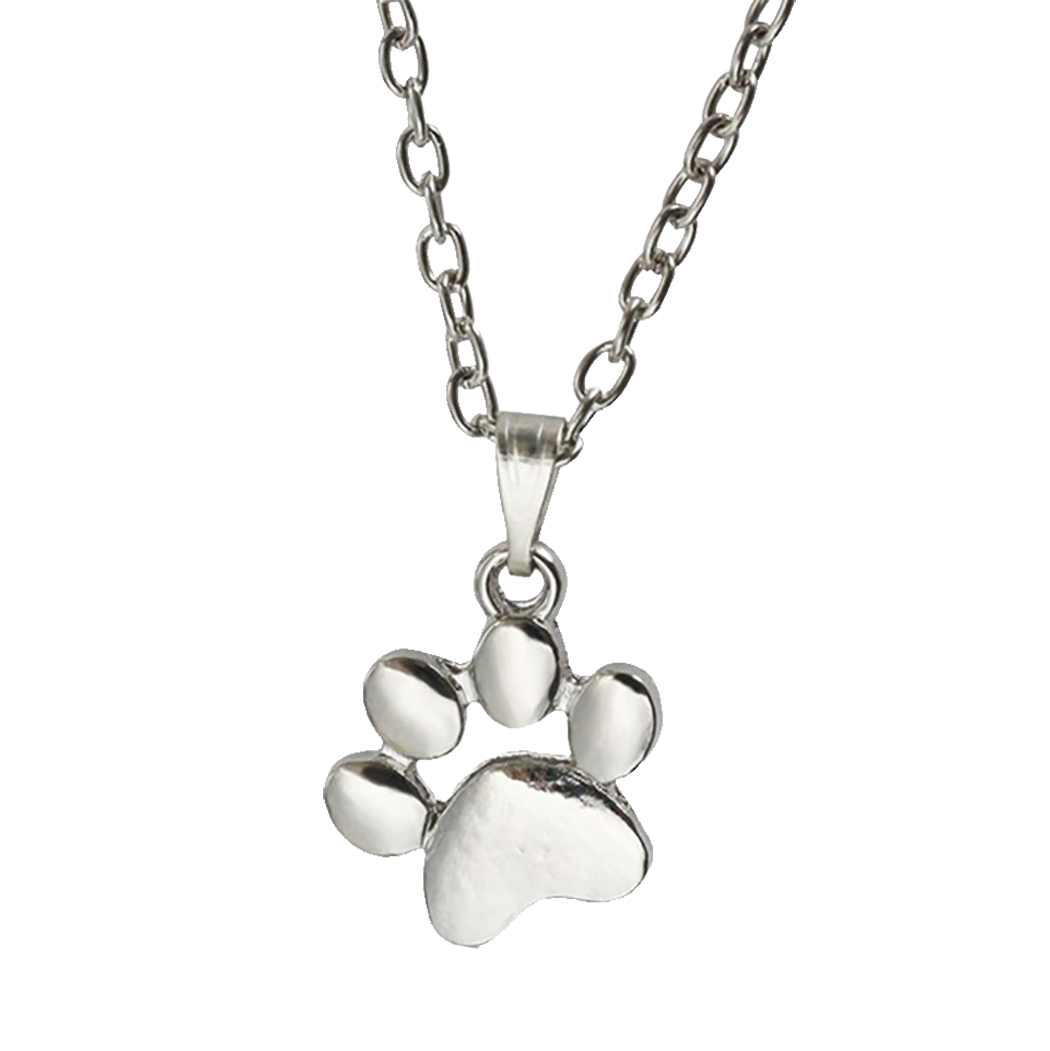 1 Pc Trendy Lovely Dogs Kitten Cat Paw Claw Pendant Silver Gold Alloy Charms Cute Animal Feet Footprint Necklace Charm For Girls