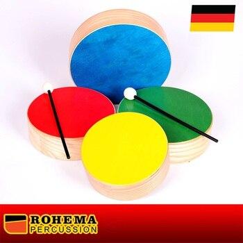 ROHEMA instrumenty perkusyjne drewniane Toms kolor 61698, wykonane w niemczech