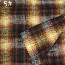 6colour Twill weave blended plaid wool fabric coat pants Party printing super hollandais sequin design college fabric A289 цена и фото