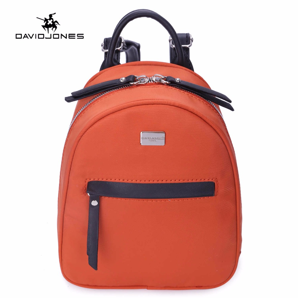 DAVIDJONES women nylon backpack female solid shouder bag Sac a dos carteras y bolsos de mujer