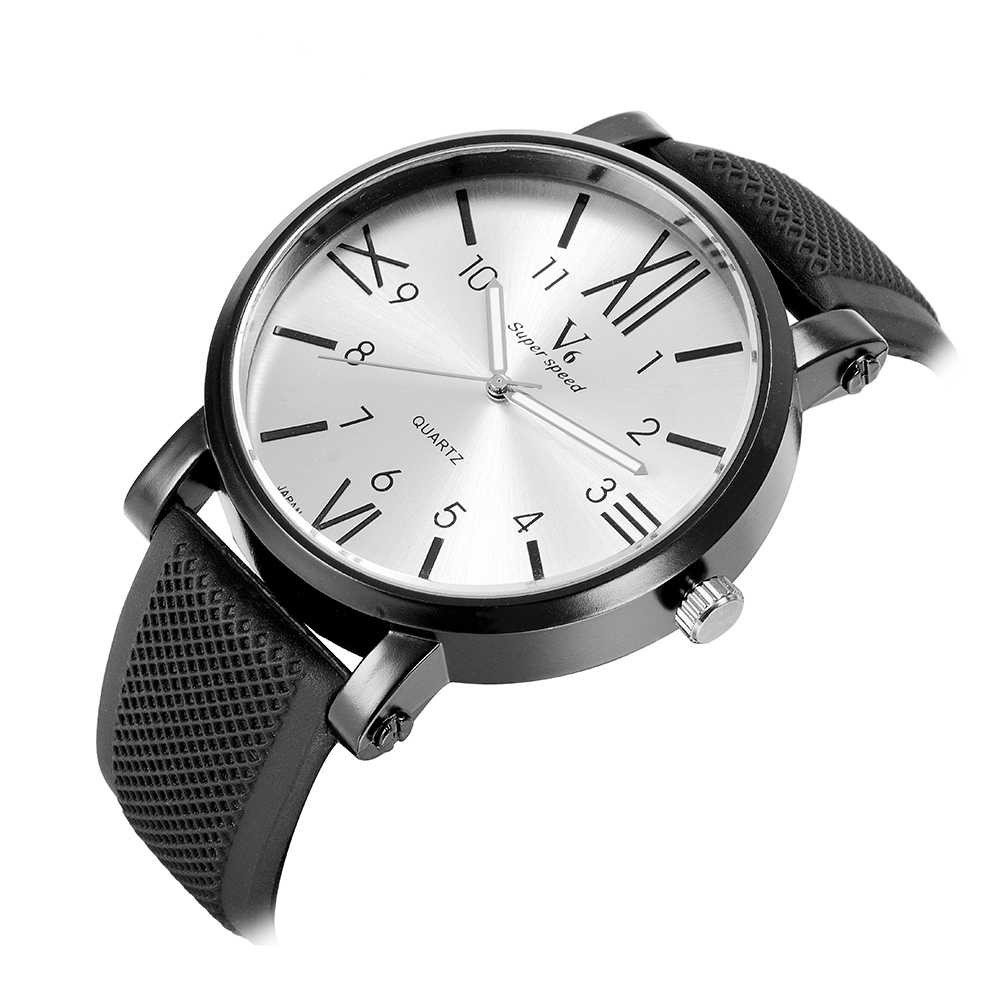 Top Brand Relogio Masculino Mens Watches Luxury Fashion Big Dial Quartz-watch Cheap Sport Wristwatch Reloj Hombre Male Cloc